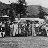Primer Visita de Automóviles a Ejutla el 18 de Junio de 1943 (Cortesía: María Ninfa González)