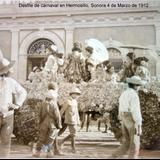 Desfile de carnaval en Hermosillo, Sonora 4 de Marzo de 1912.