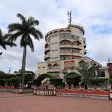 Parque y hotel - Santiago Tuxtla, Veracruz