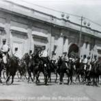 Gendarmeria por las calles de Revillagigedo.