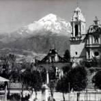 El Volcan Popocatepetl visto desde Ozumba.