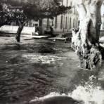 Inundacion por las calles de  Chapala, Jalisco.