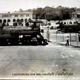 Locomotoras Una lado mexicano y otra en USA.