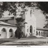 Entrada al hotel de Agua Caliente