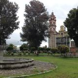 Atrio y templo de Santa Cruz Tlaxcala. Junio/2018