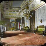 Interior del Palacio presidencial  por el fotografo Charles B Waite.