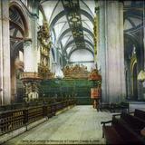 Interior de la catedral de Mexico por el Fotógrafo Charles B. Waite. - Ciudad de México, Distrito Federal