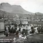 Vista parcial y el cerro de Guadalupe.