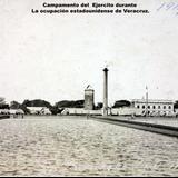 Campamento del Ejercito durante La ocupación estadounidense de Veracruz ( 1914 ).