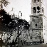 La plaza durante La ocupación estadounidense de Veracruz ( 1914 ).
