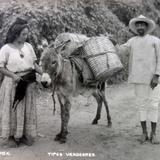 Tipos mexicanos un vendedor de Oaxaca.