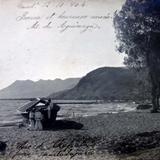 A orillas del lago de Chapala, Jalisco ( Circulada el 12 de Octubre  de 1904 ).
