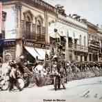 Desfile combate de flores  ( Circulada el 6 de Junio de 1909 ).