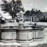 Una fuente de Cholula, Puebla.