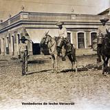 Tipos mexicanos Vendedores de leche Veracruz .