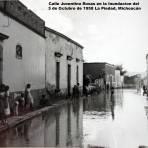Calle Juventino Rosas en la Inundacion del 3 de Octubre de 1958 La Piedad, Michoacán