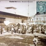 Meercado de San Juan por el fotografo Felix Miret ( Circulada el 12 de Agosto de 1918 )