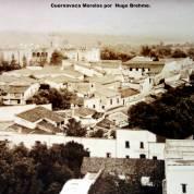 Panorama de Cuernavaca Morelos por el Fotógrafo Hugo Brehme. - Cuernavaca, Morelos