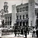 Palacio de Gobierno y catedral Jalapa Veracruz.