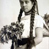 Tipos Mexicanos vendedora de flores( Circulada el 22 de Diciembre de 1936 ).
