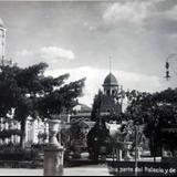 Una parte del Palacio y de la Plaza ( Circulada el 9 de Enero de 1911 ).