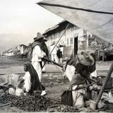 Tipos Mexicanos vendedores de verduras.