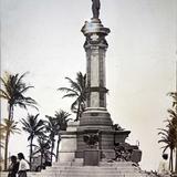 Monumento bombardeado el 5 de Abril de 1914 Durante la Revolucion Mexicana.