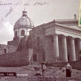 El Calvario Leon Guanajuato ( Circulada el 12 de Junio de 1907 ).