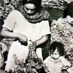 Tipos Mexicanos vendedora de verduras.