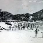 Playa Caleta. ( Circulada el 1 de Abril de 1956 ).