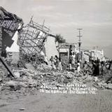 Calle Guerrero despues del Terremoto ( Acaecido el 15 de Abril de 1941 )