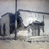 Casa bombardeada durante La Revolucion Mexicana.