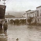 Esplanada Hidalgo Inundacion acaecida en Septiembre de 1927,