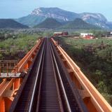 Puente en los límites de Chihuahua y Sinaloa, Ferrocarril Chihuahua al Pacífico (1976)