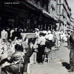 Dia de mercado en la Ciudad de México.