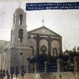 Historica iglesia bombardeada durante La Revolucion Mexicana ( Circulada el 11 de Junio de 1911 )