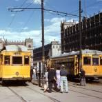 Tranvías en el Zócalo (1954)