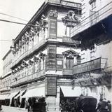 Esquina de las calles Vergara y San Francisco por el Fotógrafo Félix Miret.