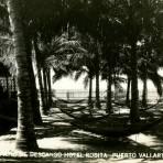Patio de descanso del Hotel Rosita