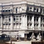 El centro Mercantil  por el Fotógrafo Fernando Kososky ( Circulada el 28 de Julio de 1910).
