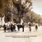 Homenaje del cuerpo de bomberos a los heroes de la Independencia  Ciudad de México16 de Sep. de 1926