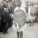 Representacion Azteca durante el desfile del Centenario 16 de Septiembre de 1910.