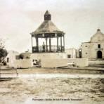 Parroquia y kiosko de San Fernando Tamaulipas