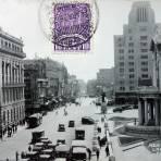 Calle del Teatro Nacional.( Circulada el 21 de Abril de 1936 ).
