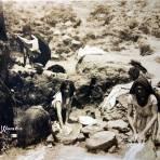 Tipos Mexicanos Lavanderas. ( Circulada el 27 de Mayo 1911 ).