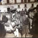 Tipos Mexicanos vendedor de chiquihuites y canastas 1908.