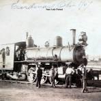 Estacion del Ferrocarril de San Luis Potosí  ( Fechada en Octubre de 1907 ).
