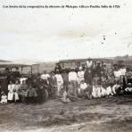 Los Socios de la cooperativa de obreros de Metepec Atlixco Puebla Julio de 1926