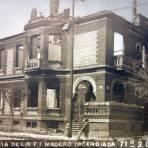 Residencia der Sr Francisco I Madero incendiada en La Colonia Juarez durante La Decena Trágica Febrero de (1913) Ciudad de México.