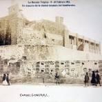 Carcel General Un aspecto de La ciudad despues del bombardeo durante La Decena Trágica Febrero de (1913)por el fotografo Felix Miret